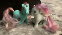 Vintage 80s G1 My Little Pony w/Jewels: Skylark Princess & Twinkle Eye #3 Rose!