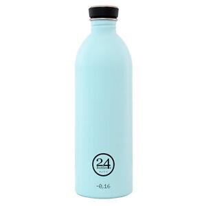 24 BOTTLES Design Trinkflasche Edelstahl NEU Wasserflasche Flasche Pastell Blau