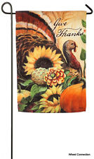 Woodland Turkey Garden Flag Evergreen Reflections Thanksgiving Collection