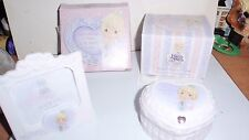 2003 Precious Moments Club Exclusive Porcelain Covered Box & Picture Frame Nib