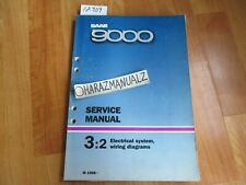 1986 Saab 9000 Electrical System Wiring Diagram Service Manual