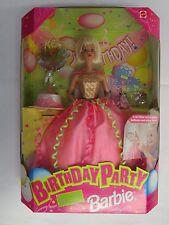 Barbie Birthday Party Doll, Mylar Balloons & Cake 1998 Mattel # 22905 NEW NRFB