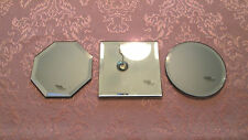Beveled Mirror - 4 inch Glass Coaster - Jewelry Display - Round Square Octagon