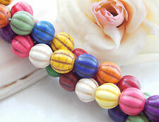 AAA 12mm Multicolor Turkey Turquoise Round Loose Beads Gems 15'' T-19
