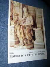 Basilica of St. Peter in Chains, Rome, Italy 1981, Roman Catholic Church Booklet