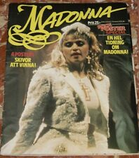 MADONNA ROCK POSTER SPECIAL MAGAZINE FROM FINLAND 1985 COMPLETE