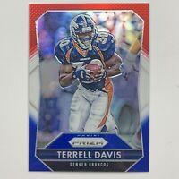 2015 Panini Prizm Terrell Davis Red, White, Blue Parallel Denver Broncos SP Card