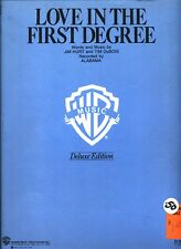 Alabama Love In The First Degree Sheet Music Deluxe Piano/Vocal/Guitar/Chords