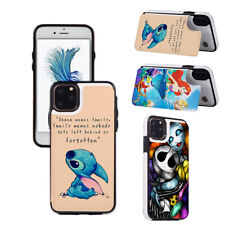 Stitch The Little Mermaid Nightmare Wallet Phone Case fit For iPhone & Samsung