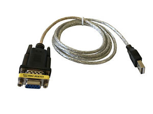 5Ft USB 2.0 to Serial (9-pin) DB-9 RS-232 with Female Adapter Cable FTDI FT232R