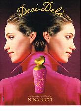 PUBLICITE ADVERTISING 064  1995  NINA RICCI  parfum DECI DELA