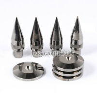 4PCS M6x36 Copper Nickel Speaker Spike Isolation Shockproof Stand Feet Base Pads