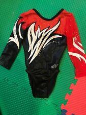 Alpha Factor Competition Leotard Gymnastics leotard, Child Int 6x-7, Cs/Cm, Red