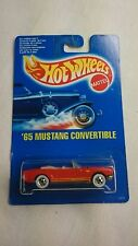 HOT WHEELS RARE 1991 '65 MUSTANG CONVERTIBLE RED