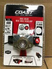 Coast Headlamp LED Alkaline Dual-Color Wide Angle Headlamp 400 lumens-NEW