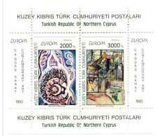 EUROPA CEPT - NORTHERN CYPRUS 1993 Contemporary Art block