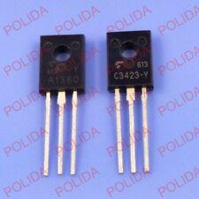 5PAIR or 10PCS TOSHIBA TO126 2SA1360-Y/2SC3423-Y 2SA1360/2SC3423 A1360-Y/C3423-Y