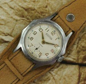 Rare Watch Vostok 2605 Mens Watch Wostok 17j USSR Vintage Dress Soviet Watch