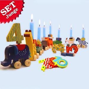 Geburtstagskarawane im Set 28-tlg., Geburtstag Karawane mit Zahlen und Kerzen