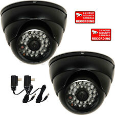 2x IR Dome Security Camera Outdoor Wide Angle 600TVL w/ SONY Effio CCD Power WR1