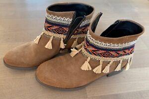 Desigual Sommer Boots Stiefel Hippiestiefen Gr. 37 wie neu