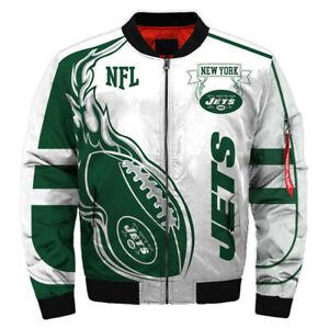 NEW YORK JETS NY Jets Men's Bomber Jacket Light Jackets Football Team Fans Logo