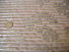 PLEATED CHIFFON SNAKESKIN  FLORAL PRINT-BEIGE/GOLD -DRESS FABRIC-1.0 METRE