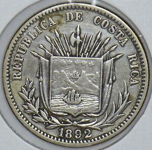 Costa Rica 1892 25 Centavos 290732 combine