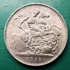 More details for 1889 queen victoria silver crown about uncirculated #690