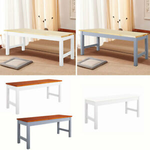 3FT Dining Room Bench Pine Wood Kitchen Hallway Dining Seat Chair 2 Seater Stool