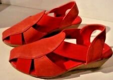 Spot On Red Faux Leather Wedge Sandals. New With Box Size UK 7 EU 40.