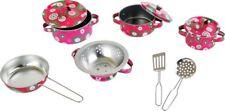 Kochgeschirr-Set 10-teilig Metall Kinderküche Puppenkinder