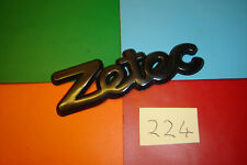 FORD FIESTA FOCUS MONDEO ZETEC BLACK PLASTIC BADGE EMBLEM.