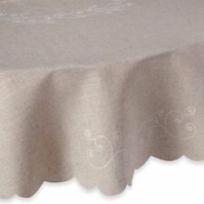 "New Lenox French Perle Linen Color 70"" Round Tablecloth"