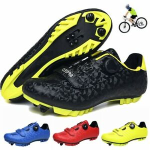 Men Mountain Bike Shoes Cycling Bicycle Sneakers Professional Spd Peloton Cleats