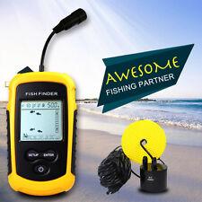 Portable Sonar Sensor Color LCD Fish Finder Alarm Fishfinder Transducer