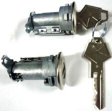 NEW CHRYSLER DODGE PLYMOUTH PAIR DOORS LOCK SET W/2 OEM PENTASTAR LOGO KEYS