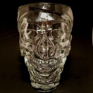 Luminarc PIRATE SKULL DRINK MUG Cup Heavy Glass Barware HALLOWEEN 30.75 fl oz