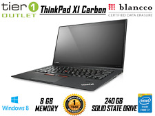 Lenovo ThinkPad X1 Carbon i7-3667U 240GB SSD 8GB Ram Windows 8 Pro Laptop Webcam