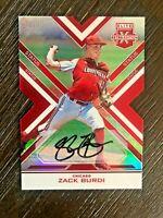 2016 Panini Elite Extra Edition Zack Burdi Autograph /75 Red Die Cut Rookie Auto