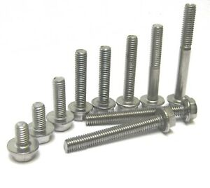 M6 - 6mm - 6MM STAINLESS STEEL HEXAGON FLANGE BOLTS FROM 10MM TO 50MM LONG
