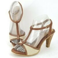 SOFFT Size 6.5 Women's Heels T-Strap Peep Toe Sandals