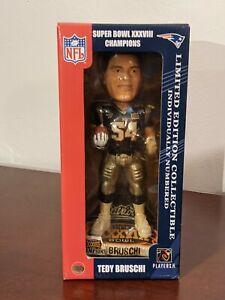 Tedy Bruschi Super Bowl XXXVIII Champions Bobble Head Figure - NEW In Box