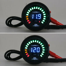 "2"" 52mm Digital Analog LED Car Oil Pressure Gauge Meter 0-120 Psi with Sensor US"
