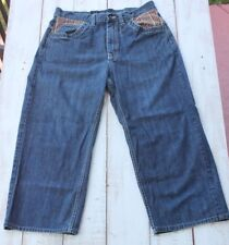 PHAT FARM Mens Denim Blue Jeans Size 34 X 26.5 (Actual) Style PPT5J589P
