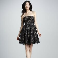 Robert Rodriguez For Target Black Lace Overlay Strapless Party Dress Size 8 JK