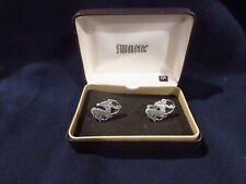 New listing Vintage Silver Mens Swank Sagittarius Centaur Archer Cufflinks in Box unused?