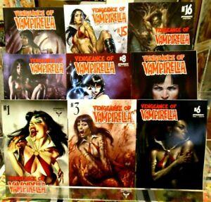 VENGEANCE of VAMPIRELLA Lot (10) DYNAMTE COMICS #1-#16 SEXY GGA Hot Babes! NM