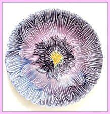 DELPHIN MASSIER Assiette barbotine florale Art nouveau / déco Vallauris faïenza