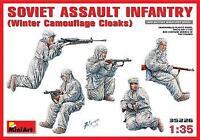 Miniart 1/35 Soviet Assault Infantry (Winter Camouflage Cloaks) # 35226